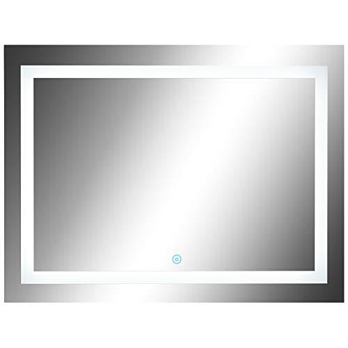 HOMCOM Lichtspiegel LED Spiegel Badspiegel Badezimmerspiegel Wandspiegel (Modell1/60 x 80 x 4cm)