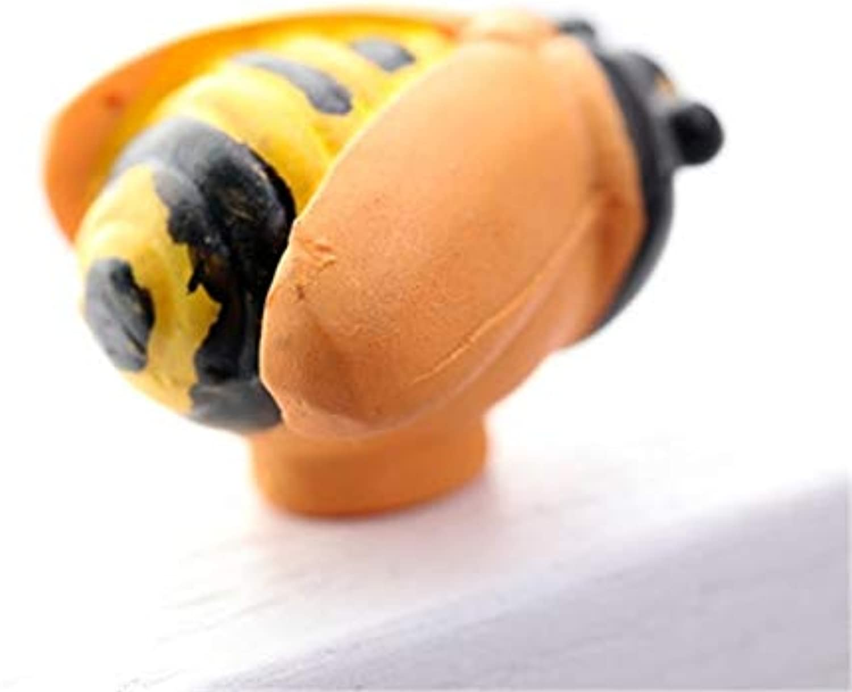 Cute Bee Resin Handle Knobs Single Hole Furniture Cabinet Cupboard Wardrobe Drawer Door Knob Pulls Cartoon Kids Room Decor