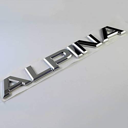 WHJIXC Für BMW Alpina, Chrom Letter Trunk Heckkarosserie Emblem Aufkleber Aufkleber Autos Auto Styling Autozubehör