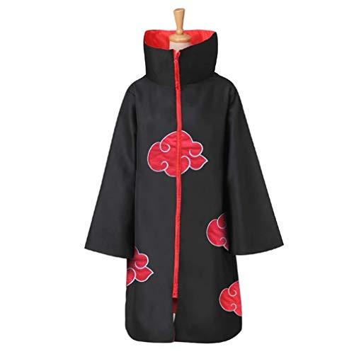 Im.Create Unisex Naruto Long Robe Halloween Costume Akatsuki Cloak Uniform for Kids
