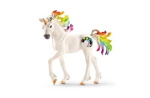 Schleich 70525 bayala Spielfigur - Regenbogeneinhorn Fohlen, Spielzeug ab 5 Jahren