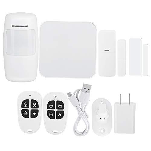 FECAMOS Kit de Detector de Infrarrojos Kit de Detector de Movimiento PIR inalámbrico WiFi para Seguridad en el hogar con función de grabación Histroy(US Standard 100-240V)