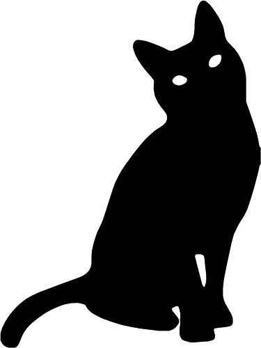 LightningSigns Cat Silhouette Vinyl Sticker Decal Car,Laptop,Window #5