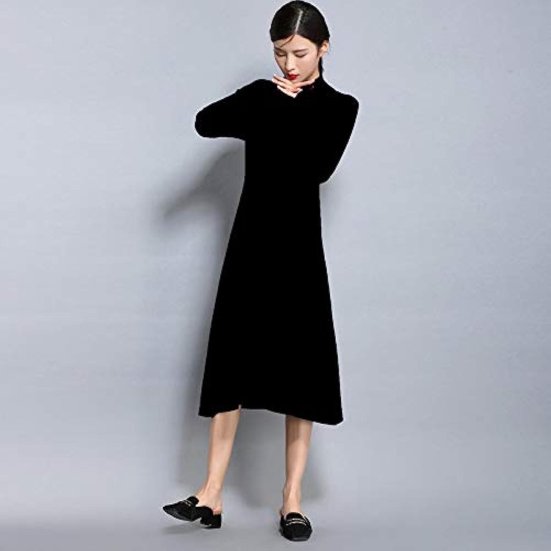 Cxlyq Dresses Winter Women Sweater Dress Women Casual Dresses ONeck Loose Long Dresses