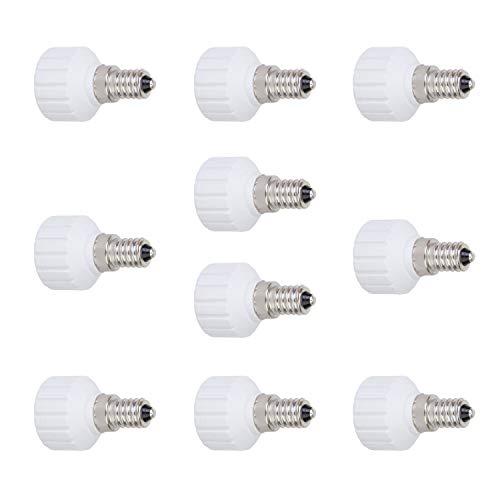 VEDA 10 Stück E14 auf GU10 Glühbirne Lampensockel Adapter Extender Halter