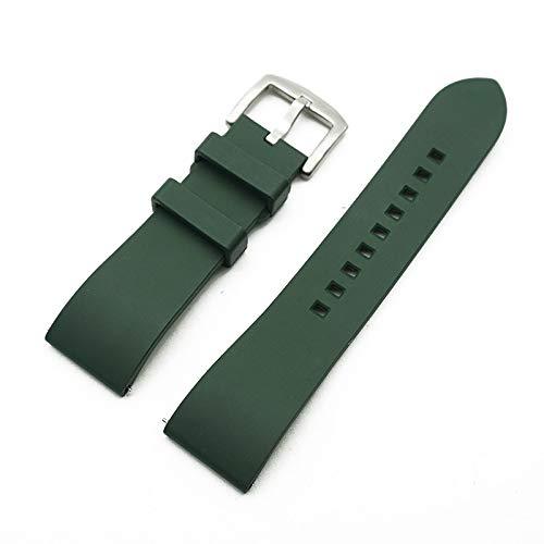 CGGA Correa de Reloj de Caucho de flúor de Grado Premium 20 mm 22 mm 24 mm Pulsera Reloje de liberación rápida Banda de Reloj para Cada Banda de Relojes de Marca