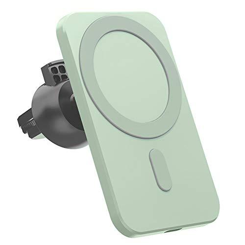 Cargador inalámbrico Magnetic Car Wireless Mount Green Stand reemplazo para Mini MAX Magsafe