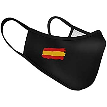 Mascarilla de Tela Homologada Reutilizable Bandera de España - Negra: Amazon.es: Ropa y accesorios