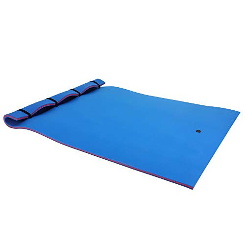 Outroad Water Floating Mat - Roll-Up Pool Float Pad Recreation and Relaxing for Lakes, Oceans & Pools, Floating Foam Water Mat for Relaxing & Recreation, 12' x 6', Blue