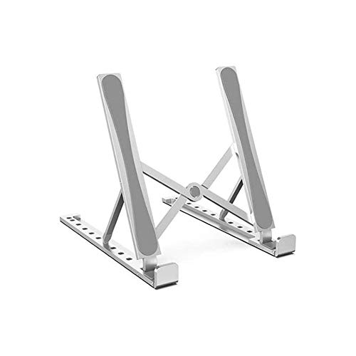 CXN Desktop Portable Notebook Stand Compatible with Laptop (13 Inch ~ 17 Inch) Aluminum Alloy Stand Adjustable Foldable Bracket Non-Slip Cooling Holder Riser