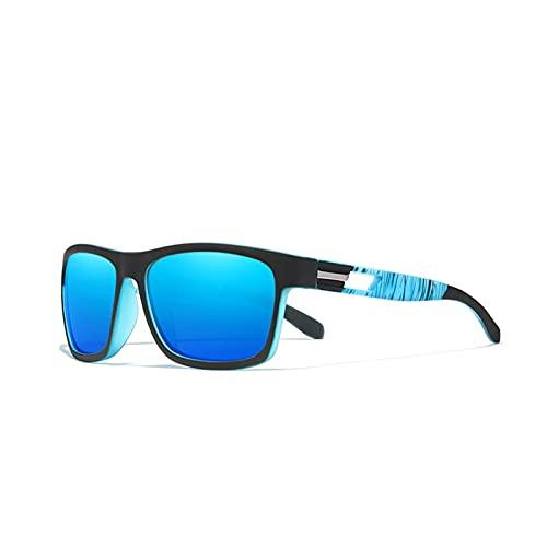 QQINGHAN Marca Gafas de Sol Lentes polarizadas para Hombre Gafas de Sol Mujeres (Lenses Color : 770 Mirror Blue C2)