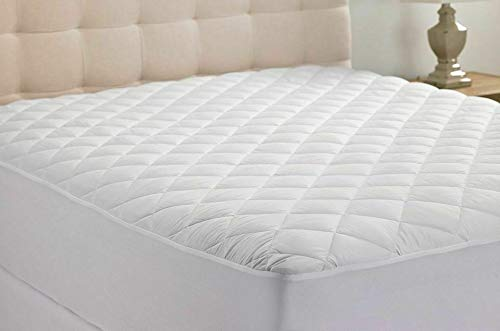 My Home Store Quilted Mattress Protector 30cm Anti Allergy Poly Cotton Fitted Mattress Cover (King)