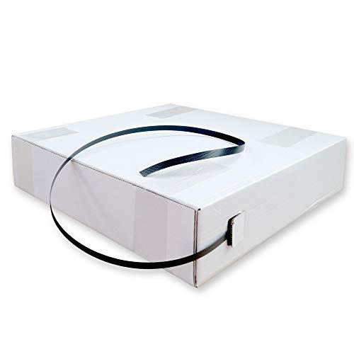 PP-Band Spenderkarton 12,0 breit x 0,55 mm stark - 1000 m PP-Umreifungsband schwarz, reißfest bis 140 kg
