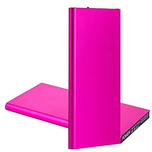GLNuoke Banco de energía 20000 mAh portátil ultra delgado batería externa batería mochila Powerbank para iPhone 12 11 Pro Max Samsung Xiaomi Huawei (color: rojo)