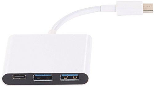 Callstel USB Hub USB C Multiport Adapter mit 2 USB A Ports USB Power Delivery USB 30 Hub