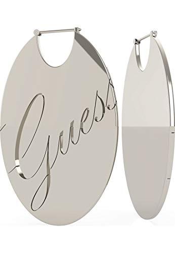 Guess Damen-Creolen GUESS FULL&OVAL HOOP (RH) Edelstahl One Size Silber 32012910