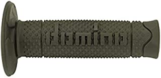 120 mm Domino COPPIA MANOPOLE IN GOMMA SCRITTA DOMINO GRANDE MODELLO A360 IN GOMMA BICOLORE NERO//GRIGIO PER MOTO OFF ROAD CROSS//ENDURO Lunghezza