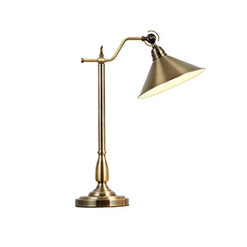 alyf lámpara de Escritorio Lámpara de Escritorio Lámpara de Mesa de la Sala Dormitorio lámpara de cabecera Retro imitación Cobre Plug-in Simple Protección de los Ojos lámpara de Aprendizaje lámparas