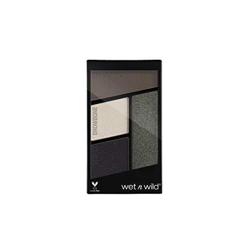 Wet n Wild Color Icon Eyeshadow Quads (Lights Out) – Paleta de Sombras de ojos - 4 colores mate y brillo