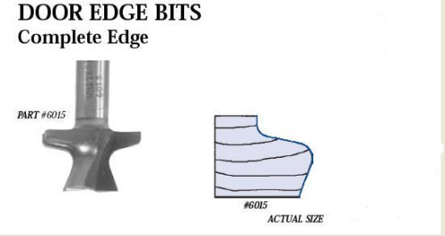 Whiteside 6015 Cabinet Making, Door Edge Router Bit (Shank: 1/2