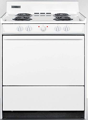 Summit WEM210 Kitchen Electric Cooking Range, White