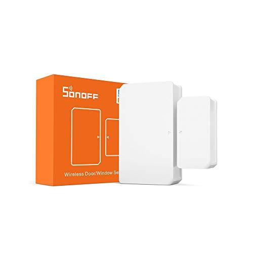 ZigBee WiFi Tür Fenster Sensor SONOFF SNZB-04, Einbruchsalarm für die Sicherheit in Ihrem Zuhause, SONOFF ZBBridge erforderlich, Akkus sind im enthalten, Kompatibel mit Alexa/Google Home