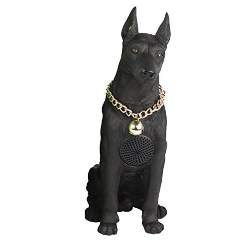sitzender Dobermann-Hund Bluetooth...