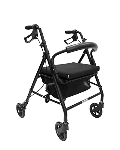 KMINA - Andador para ancianos, Andador plegable, Andadores para ancianos 4 ruedas,...