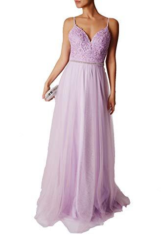 Mascara Lavendel MC165089 Spitze Strings Kleid mit voller RockMascr
