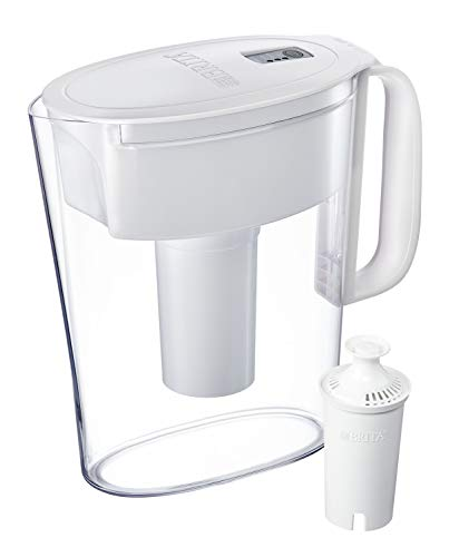 Brita Water Pitcher with 1 Filter, BPA Free, 5 Cup, White
