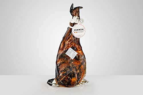 Fermin Iberico Shoulder (10-11 lbs) All natural, No Nitrites or Nitrites Added. Exclusive by Dao Gourmet Foods (Includes ham holder + Knife + Cover)