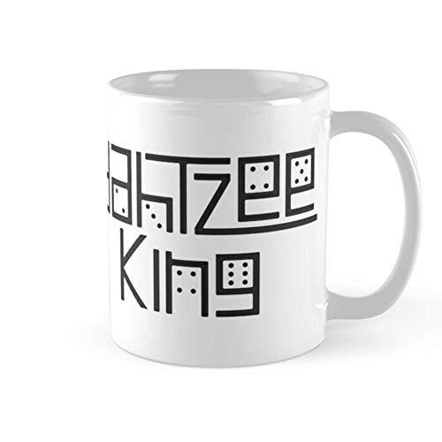 Yahtzee King Coffee Mug 11oz & 15oz Ceramic Tea Cups