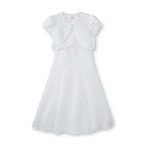 Jurk + Bolero bruidsjurk 128/134 meisje feestelijk wit elegant 2-delig