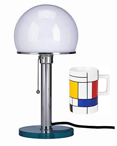 Tecnolumen Wagenfeld Bauhaus Lampe Tischleuchte Leuchte WG 25 GL | bauhaus | lamp design | | Tischleuchte + Gratis Bauhaus Becher