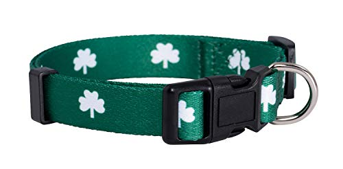 Native Pup St. Patrick's Day Dog Collars (Small, Shamrock)