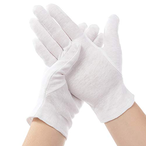 12 Pairs White Gloves Children's Gloves for Tuxedo Honor Guard Special Occasion