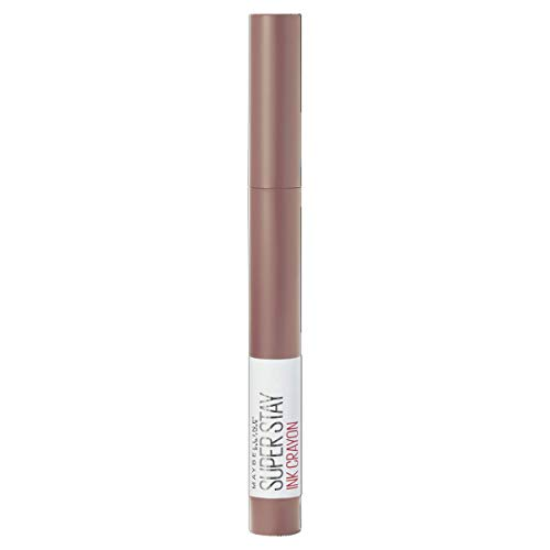 Maybelline New York Rossetto Matita SuperStay Ink Crayon Colore Matte a Lunga Tenuta, 10 Trust Your Gut