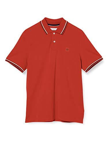Bugatti Herren 8150-55001 Poloshirt, Rot (Red 950), Large (Herstellergröße: L)