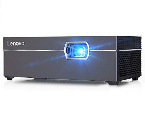 Lenovo M1 Smart Mini Projector, Pocket-Sized 200 ANSI Lumens Portable DLP Video Projectors with WiFi, 110 Inch Picture, Movie Projector, Intelligent Touch Control, Home Entertainment