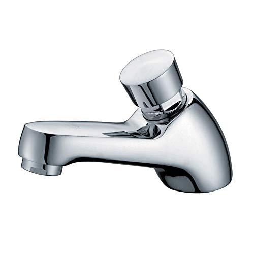 ZXC Druckknopf Standventil Auslaufventil Wasserhahn Armatur für Kaltwasser selbstschließend in Chrom