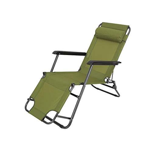 YQQ-Chaise pliante Heure du Déjeuner Fauteuil De Repos Lit Pliant Lit Simple 178 * 76 * 66CM (Couleur : Green)