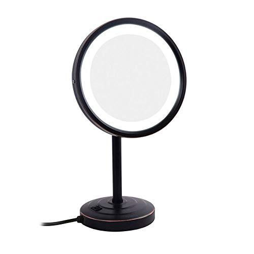 Miroir Cosmétique avec Éclairage LED, Miroir Maquillage De Voyage pour Maquillage Rasage 8.5 inch,B
