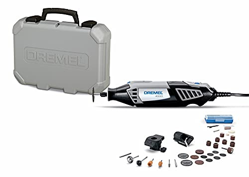 Dremel 4000-2/30 High Performance Rotary Tool Kit- 2 Attachments & 30 Accessories- Grinder, Sander, Engraver- Perfect for Routing, Black, Full Size, 32 Piece Kit