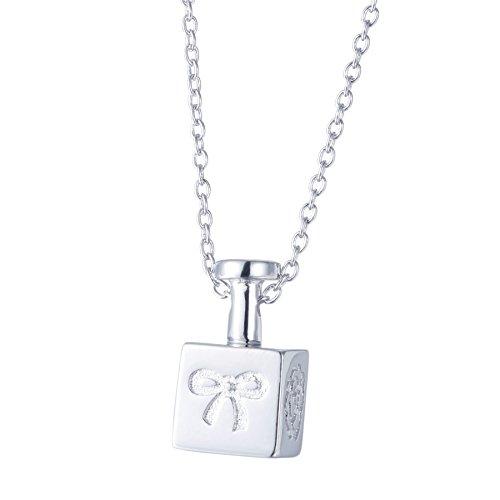 SILVERAGE Collar Plata de Ley 925 Colgante Botella de Perfume