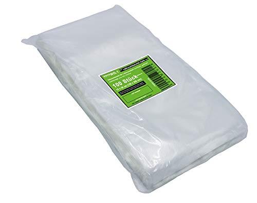 Kochfeste goffrierte Vakuumbeutel 100 Beutel 15 x 30 mm VacuNo.1 - Sous Vide geeignete Beutel verschiedene Größen erhältlich