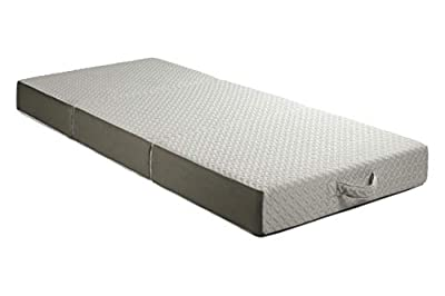Milliard 6-Inch Memory Foam Tri Folding Mattress with Ultra Soft Removable Cover and Non-Slip Bottom (75 inches x 31 inches)