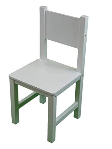 Greca Silla Infantil lacada. En Madera Maciza. Lacada Blanca. Medidas (Ancho/Fondo/Alto): 28.5 * 28 * 60 cms. Altura hasta Asiento: 30 cms. Fácil Montaje.