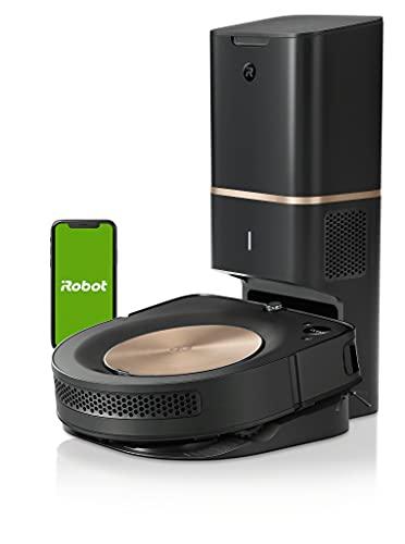 iRobot Roomba S9+ Robot Aspirapolvere Wi-Fi, Svuotamento Automatico,Mappa La Tua Casa, Bronzo/Nero