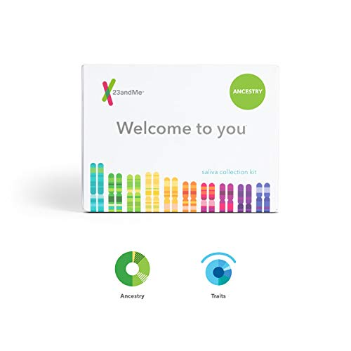 23andMe Ancestry + Traits Service: Personal Genetic DNA Test with 1500+ Geographic Regions, Family Tree, DNA Relative Finder, and Trait Reports