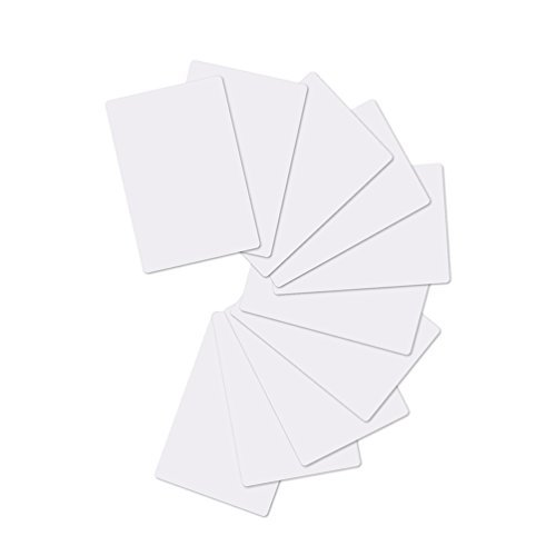 PVC Card, 30 Mil - 100 Unidades Tarjetas de Visita, Tarjetas Plásticas PVC Bancas Ideales para Ser Impresas. Tamaño CR80, Tipo Visa-Timeskey